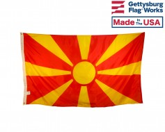 North Macedonia Flag (Formerly Republic of Macedonia)