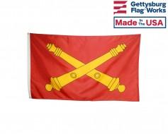 U.S Field Artillery Cannon Flag