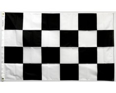 Black and White Flag - Printed - 3x5'