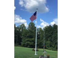 Easy Order Fiberglass Flagpole 25'