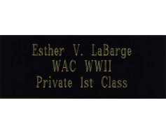 Engraved Name Plate