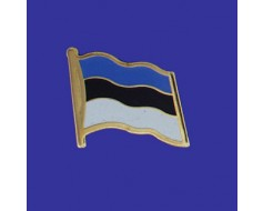 Estonia Lapel Pin (Single Waving Flag)