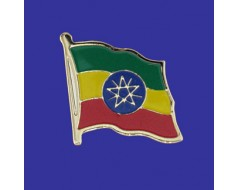 Ethiopia Lapel Pin (Single Waving Flag)