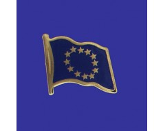 Europe Lapel Pin (Single Waving Flag)