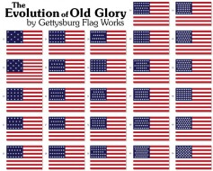 Historical American Stick Flag Set - 4x6""
