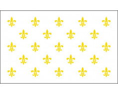 Fleur-De-Lis Flag (23 on white) - 3x5'