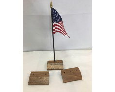 "Walnut Table Base for 4x6"" Flags"