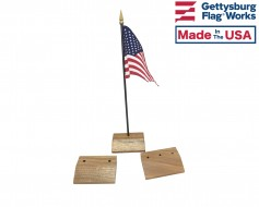 """Walnut Table Base for 4x6"""" Flags"""