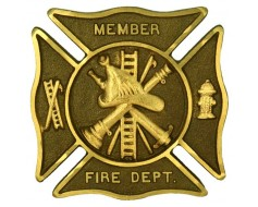 "Fire Department Premium 6"" Bronze Grave Marker"