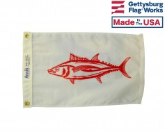 Albacore Fish Boat Flag - 12x18""