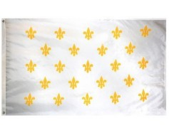 Fleur-De-Lis Flag (23 on white)
