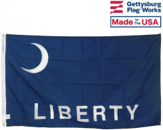 Fort Moultrie Liberty Flag 3x5'
