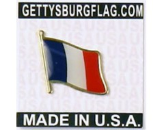 France Lapel Pin (Single Waving Flag)
