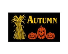 Autumn Pumpkins Flag - 3x5'