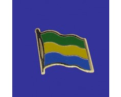 Gabon Lapel Pin (Single Waving Flag)