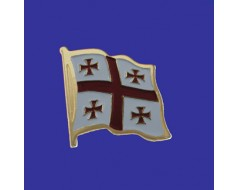 Georgia Republic Lapel Pin (Single Waving Flag)