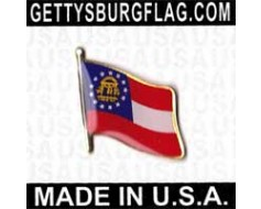 Georgia State Flag (new design) Lapel Pin