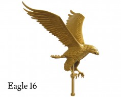 Flying Eagle, Gold Aluminum