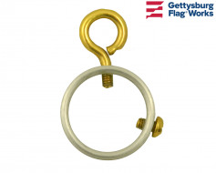 Gold Aluminum Ring with Eye Bolt