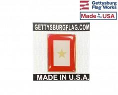 Gold Service Star Lapel Pin (Vertical Rectangle)