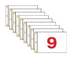 """Golf Flag Set 1-9, (Red on White) - 14x20"""""""