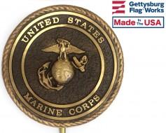 "Marine Corps Bronze Grave Marker (Premium 6"")"