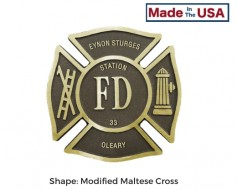 Custom Fire Department Grave Marker - Choose Options