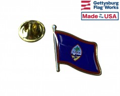 Guam Lapel Pin (Single Waving Flag)