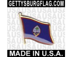 Guam Lapel Pin (Single Waving Flag)