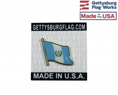 Guatemala Lapel Pin (Single Waving Flag)
