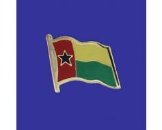 Guinea Bissau Lapel Pin (Single Waving Flag)