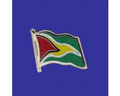 Guyana Lapel Pin (Single Waving Flag)