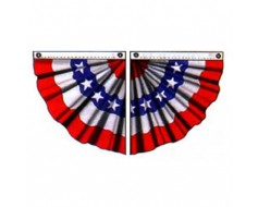 Patriotic Pleated Half Fan, Cotton 3'