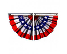 Patriotic Pleated Half Fan Set, Stars & Stripes