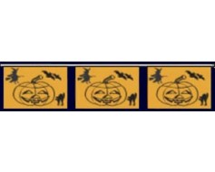 Halloween Pumpkin Pennants - 60'