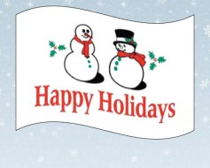 Happy Holidays Snowman Flag - 3x5'