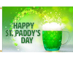 St. Paddy's Day Green Beer Flag - 3x5'