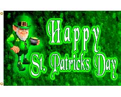 St. Patrick's Day Leprechaun Flag - 3x5'