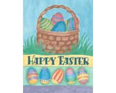 Happy Easter Basket House Banner