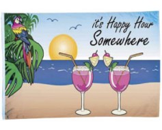 It's Happy Hour Somewhere Flag - 3x5'
