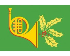 Holiday Horn Flag - 3x5'