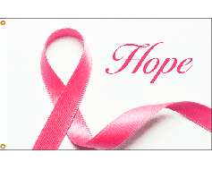 Hope Pink Ribbon Flag - 3x5'