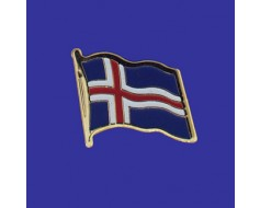 Iceland Lapel Pin (Single Waving Flag)