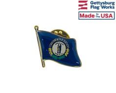 Kentucky State Flag Lapel Pin (Single Waving Flag)