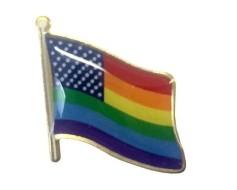 New Glory Rainbow Waving Flag Lapel Pin