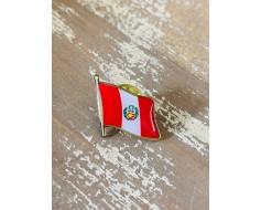 Peru (seal design) Lapel Pin (Single Waving Flag)