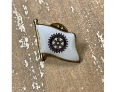 Rotary Lapel Pin (Single Waving Flag)
