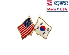 South Korea Lapel Pin (Double Waving Friendship with USA ...