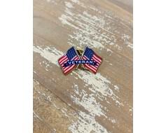 Veteran Lapel Pin (Double Waving)