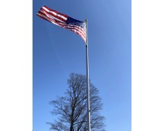 20' Presidential In-Ground Telescoping Residential Flagpole